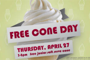 FREE Soft Serve Cone at Carvel