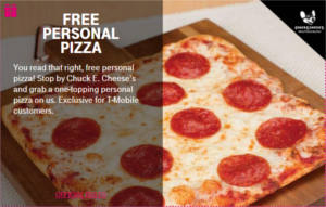 FREE Personal Pizza