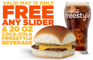 FREE Slider and Beverage at White Castle