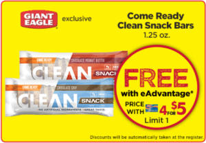 Come Ready Clean Snack Bars