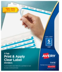 Avery Printable Dividers