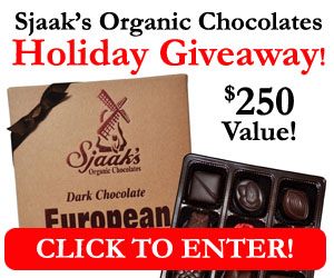 Sjaaks Organic Chocolates Holiday Giveaway