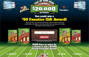 The Frigo Cheese Heads Fuel Up Your Game Sweepstakes