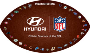 Hyundai NFL Window Cling