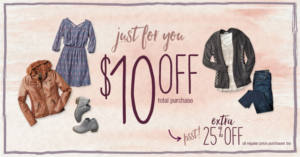 FREE $10 OFF $10 at Maurices Stores