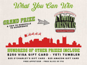 O'Charley's Nashville Christmas Sweepstakes and Instant Win Game