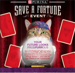 Purina Save a Fortune Sweepstakes and Instant Win Game