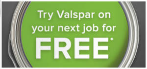 FREE Valspar Paint Trial Offer for Professionals