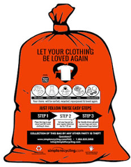 FREE Curbside Clothing Recycling Bags