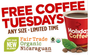FREE Coffee at Holiday Station Stores