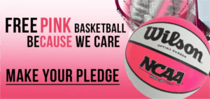 FREE Pink Basketball at RC Willey
