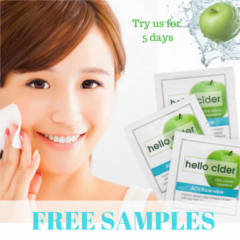 Hello Cider Acne Face Wipes