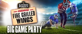 Cooked Perfect Premium Fire Grilled Wings Big Game House Party