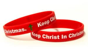 FREE Keep Christ in Christmas Wristband