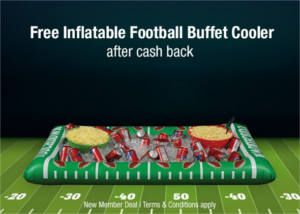 FREE Inflatable Football Buffet Cooler