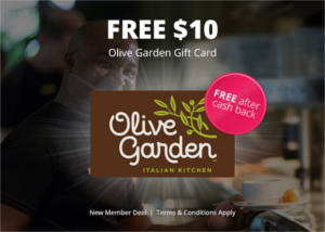 FREE $10 Olive Garden Gift Card
