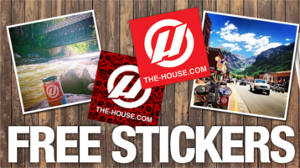 FREE Stickers from The House Boardshop