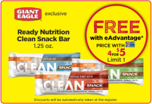 FREE Ready Nutrition Clean Snack Bar