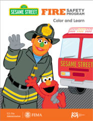 FREE Sesame Street Fire Safety Program Coloring Book