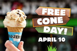 FREE Cone Day Ben & Jerr's 2018