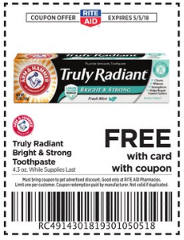 FREE Arm & Hammer Toothpaste at Rite Aid