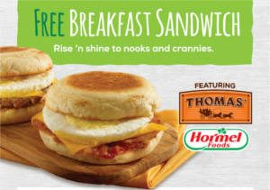 FREE Breakfast Sandwich at QuickChek
