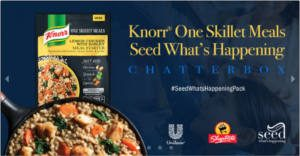 FREE Knorr One Skillet Meals Seed What's Happening Chat Pack