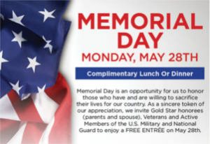 FREE Entree at McCormick & Schmicks for Military