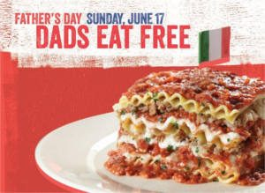 FREE Lasagne or Spaghetti Entree for Dads at Spaghetti Warehouse