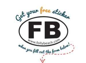 FREE Folly Beach Sticker