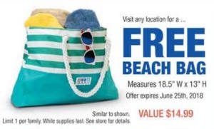 FREE Beach Bag at RC Willey Stores
