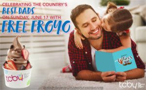 FREE Frozen Yogurt for Dads at TCBY
