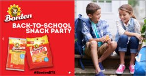 FREE Borden Cheese Back-to-School Snack Party Kit