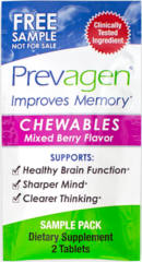 FREE Prevagen Memory Supplement Chewable Tablets Sample