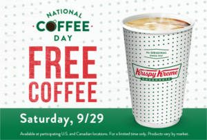 FREE Coffee at Krispy Kreme