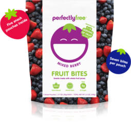 get a coupon valued at $3.99 towards your next purchase of Perfectly Free Fruit Bites.