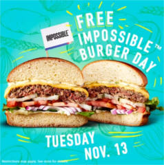 FREE Impossible Burger at Dave & Buster's