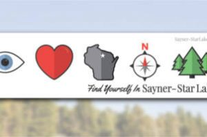 FREE Sayner-Star Lake Sticker