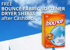 FREE Bounce Fabric Softener Dryer Sheets