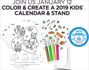 FREE Decorate Your Own Calendar Event at JCPenney