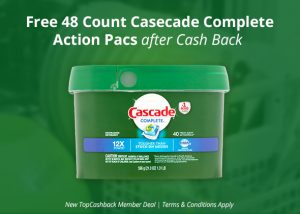 FREE 48-count Cascade Complete Action Pacs
