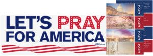 FREE Lets Pray for America Sticker