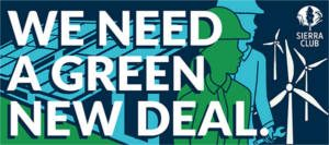 FREE We Need A Green New Deal Sticker