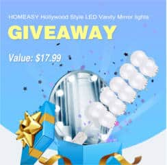 Homeasy Hollywood Style LED Vanity Mirror Lights Kit