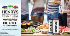 FREE Henrys Hard Sparkling Water Kickoff to Summer Party Pack