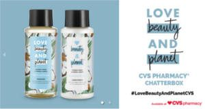 FREE Love Beauty and Planet CVS Pharmacy Chat Pack