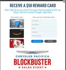 FREE $50 Gift Card for Dodge Ram Test Drive