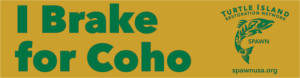 FREE I Brake for Coho Sticker