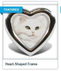 FREE Silver Heart-Shaped Picture Frame