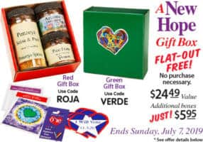 FREE A New Hope Box of Spices at Penzeys Stores